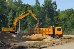 Estrada absolutamente nova da construção do transporte da construção Foto de Stock Royalty Free