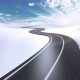 Estrada abstrata com espaço branco da cópia Fotos de Stock