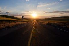 A estrada adiante Foto de Stock