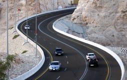 Estrada Al Ain da montanha Foto de Stock Royalty Free