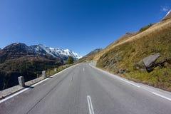 Estrada alpina alta Carinthia Áustria de Grossglockner Imagem de Stock