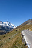 Estrada alpina alta Carinthia Áustria de Grossglockner Imagem de Stock Royalty Free