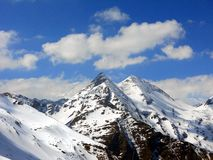 Estrada alpina alta de Grossglockner, parque nacional Hohe Tauern, Áustria Foto de Stock