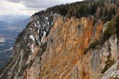Estrada alpina de Villach, Carinthia, Áustria Fotografia de Stock Royalty Free