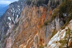 Estrada alpina de Villach, Carinthia, Áustria Foto de Stock