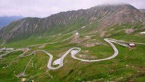 Estrada alpina elevada Fotografia de Stock Royalty Free