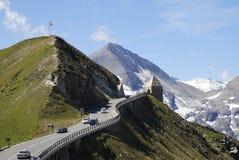 Estrada alpina elevada de Grossglockner fotos de stock royalty free