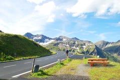 Estrada alpina elevada de Grossglockner. fotografia de stock