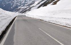 Estrada alpina elevada, Timmelsjoch, Áustria Imagem de Stock