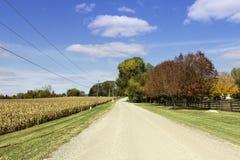 Estrada americana do cascalho do campo Foto de Stock Royalty Free