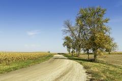Estrada americana do cascalho do campo Fotografia de Stock Royalty Free