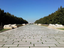 A estrada a Anitkabir Fotos de Stock Royalty Free