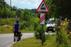 Estrada antes da estrada de ferro Fotografia de Stock
