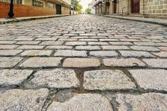 Estrada antiga do cobblestone Fotografia de Stock