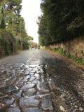 Estrada antiga em Roma fotos de stock