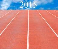 Estrada ao ano 2015 do sucesso Foto de Stock Royalty Free
