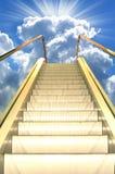 Estrada ao céu Fotos de Stock