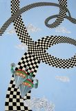Estrada ao céu ilustração royalty free