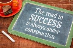 A estrada ao conceito do sucesso no quadro-negro Fotografia de Stock Royalty Free
