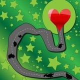 Estrada ao coração Imagens de Stock Royalty Free