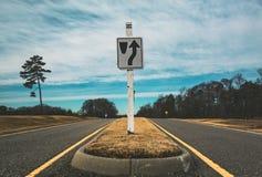 Estrada ao desconhecido Fotografia de Stock Royalty Free