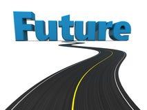 Estrada ao futuro Fotos de Stock