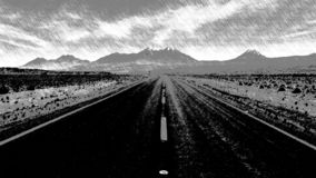 Estrada ao horizonte ilustração do vetor