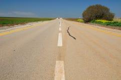 Estrada ao horizonte. Imagem de Stock