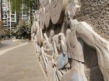 Estrada ao longo da caminhada da parede para a paz fotografia de stock royalty free