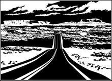 Estrada ao oeste Imagem de Stock
