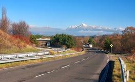 Estrada ao pico de Krivan, Tatras alto, Eslováquia Foto de Stock Royalty Free