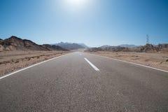 Estrada ao Sharm el Sheikh, Egito, Sinai sul imagem de stock