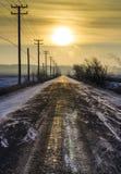 Estrada ao sol Fotos de Stock Royalty Free