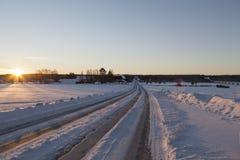 A estrada ao sol Fotografia de Stock