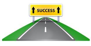 Estrada ao sucesso Fotos de Stock Royalty Free