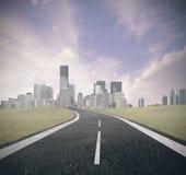 A estrada ao sucesso Imagens de Stock Royalty Free