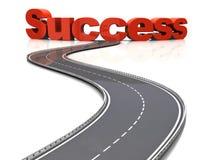 Estrada ao sucesso Imagens de Stock Royalty Free
