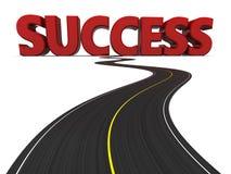 Estrada ao sucesso Imagens de Stock