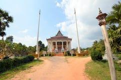 Estrada ao templo budista Fotos de Stock Royalty Free