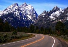 Estrada ao Teton 2 Fotos de Stock Royalty Free