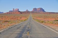 Estrada ao vale do monumento Fotografia de Stock Royalty Free