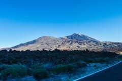 Estrada ao vulcão Imagens de Stock Royalty Free