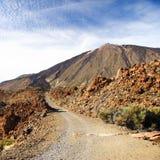 Estrada ao vulcão Fotos de Stock Royalty Free