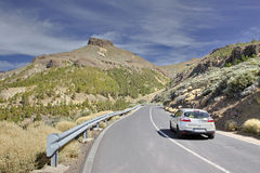 Estrada ao vulcão Teide Canário Fotos de Stock Royalty Free