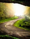 Estrada aos montes Imagem de Stock Royalty Free