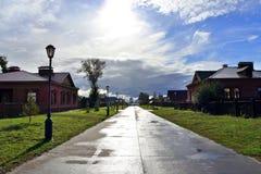 Estrada após a chuva na ilha Fotografia de Stock Royalty Free