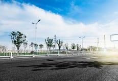 Estrada asfaltada fotografia de stock