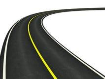 Estrada asfaltada curvada Foto de Stock Royalty Free