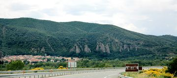 Estrada asfaltada na montanha France Foto de Stock Royalty Free