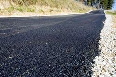 Estrada asfaltada nas madeiras foto de stock